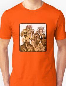 Anfractuous Apoptosis - Sepia T-Shirt