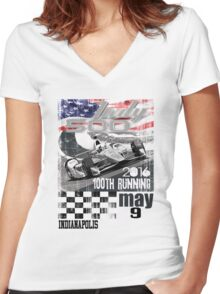 indy 500 Women's Fitted V-Neck T-Shirt