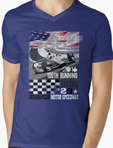 indy 500 Mens V-Neck T-Shirt