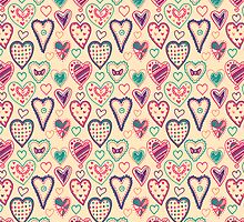 Girly Heart Doodle  by Perrin Le Feuvre