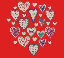 Girly Heart Doodle  Kids Clothes