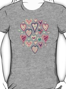 Girly Heart Doodle  T-Shirt