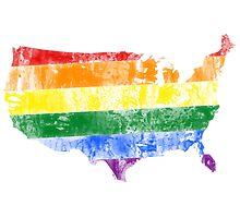 USA Pride Flag Photographic Print
