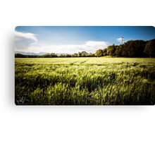 italian fields in the countryside Canvas Print