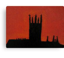 silhouette  of St Mary's Catherdral Kilkenny Canvas Print
