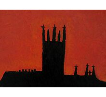 silhouette  of St Mary's Catherdral Kilkenny Photographic Print