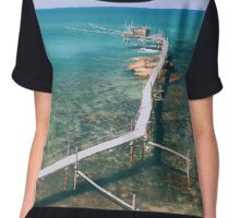 sunny day at the beach Chiffon Top