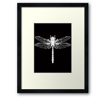 Dragonfly White Framed Print