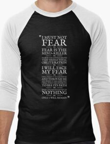 Litany Against Fear Men's Baseball ¾ T-Shirt
