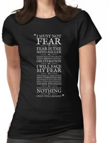 Litany Against Fear Womens Fitted T-Shirt