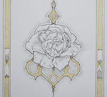 Floral Dotwork Design by Izzy Rose  Grange