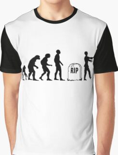 Funny zombie Evolution RIP Graphic T-Shirt