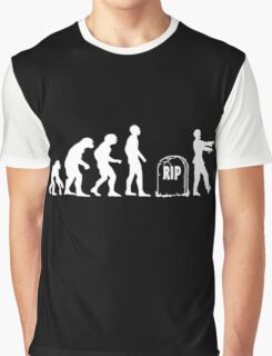 Scary and Funny zombie Evolution walking Graphic T-Shirt