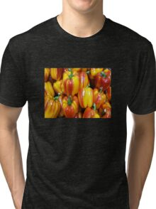 RED / YELLOW PEPPERS Tri-blend T-Shirt