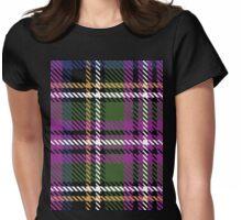 Purple tartan Womens Fitted T-Shirt
