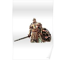 For Honor Cartoonlike Game Artwork - Viking Warrior with sword and shield red Poster
