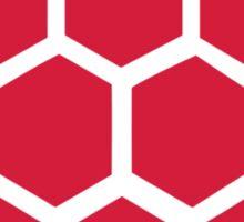 Red Handball heart Sticker