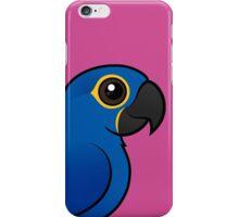 Cute Hyacinth Macaw by Birdorable iPhone Case/Skin