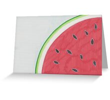 Watermelon Seeds Design Card Greeting Card