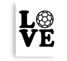 Handball Love Canvas Print