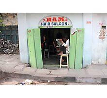 Ram Hair Saloon Photographic Print