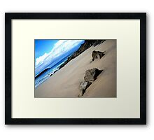 Trevone Bay Azure Sea Framed Print