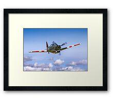 EFW D-3801 J-143 HB-RCF in flight Framed Print