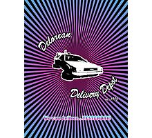 Delorean Delivery Depot Photographic Print