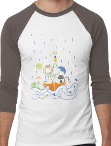 Friends and Rain by Lolita Tequila Men's Baseball ¾ T-Shirt