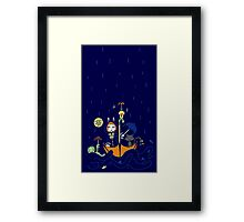 Friends and Rain by Lolita Tequila Framed Print