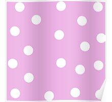Pink - Polka Dots Poster
