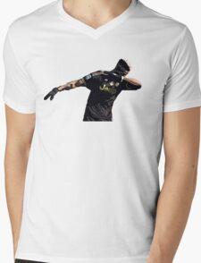 Dab Pogba Mens V-Neck T-Shirt