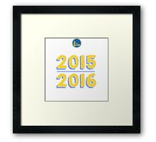 Golden State Warriors 2015-2016 Back to Back Champs Shirt Framed Print