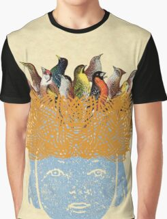 Bird nest head Graphic T-Shirt