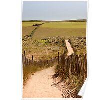 Beachside location in Devon Poster