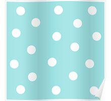 Blue - Polka Dots Poster