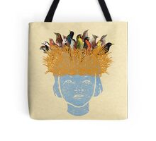 Bird nest head Tote Bag