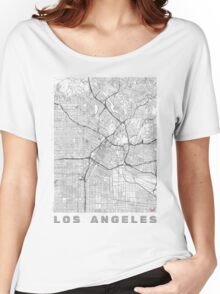 Los Angeles Map Line Women's Relaxed Fit T-Shirt