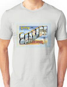 Seaside Oregon Vintage Souvenir Post Card Unisex T-Shirt