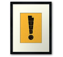 Loud! Typography Series Framed Print