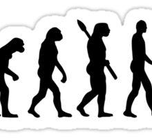 Evolution Hiking Sticker