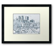 York, in pen and ink Framed Print