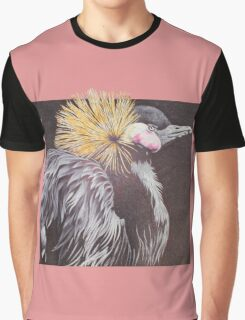 The Golden Crowned Crane Graphic T-Shirt