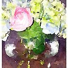 Watercolor Flowers by ArtxAlly