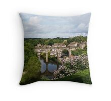 Railway Bridge/River Nidd (Knaresborough) Throw Pillow