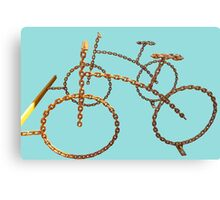 chain bicycle Canvas Print