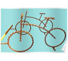 chain bicycle Poster