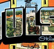 Tulsa Oklahoma Vintage Souvenir Post Card Sticker