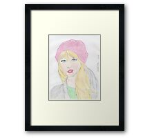 Drawing Of Taylor Swift Framed Print