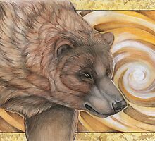 Grizzly Bear Spirit - Drawing by morrokko